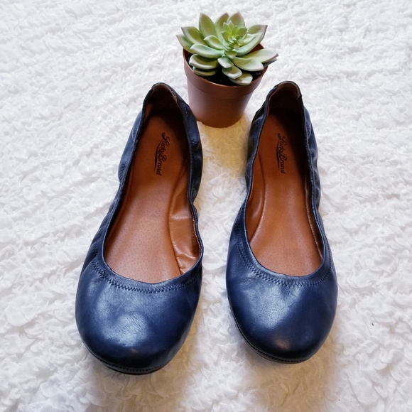 Lucky Brand Womens Size 6M Navy Elastic Flats